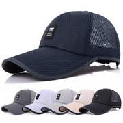 Hat man summer breathable mesh outdoor shade sun hat cool Korean peaked cap leisure middle-aged baseball cap