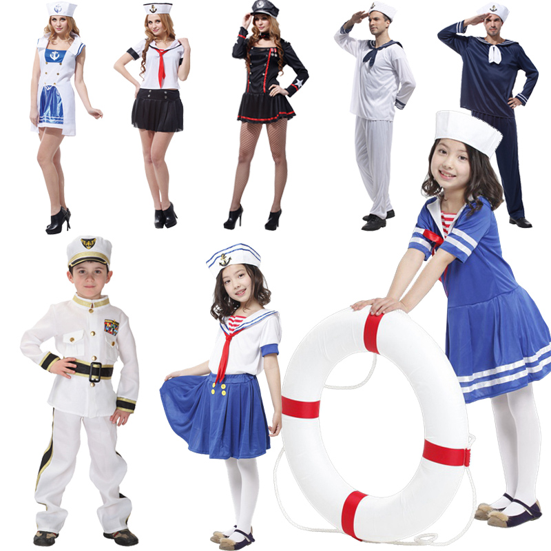 Christmas Adult Children Fire Costume Boys Police Costume Navy Sailor Costume Cosplay
