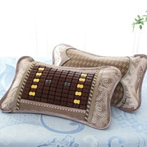 Mat bamboo pillow pillow pillow Mahjong summer liangzhen jingzhen care of adult students summer tea cool pillow