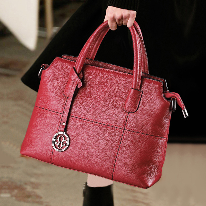 Big Bag Female Bag 2019 New Type Leather Bag Soft Leather Fashion Baitao Leisure Large Capacity Handbag Single Shoulder Slant