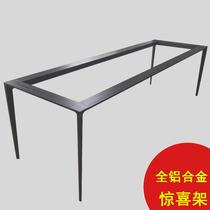 Aluminum alloy solid dining table tripod Rock plate dining table Italian Gold Award table legs Simple modern office desk leg bracket
