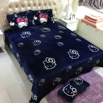 Autumn and winter thickening flannel Blanket 2 meters sheet blanket method Lai Velvet Office cover nap blanket student air conditioning blanket