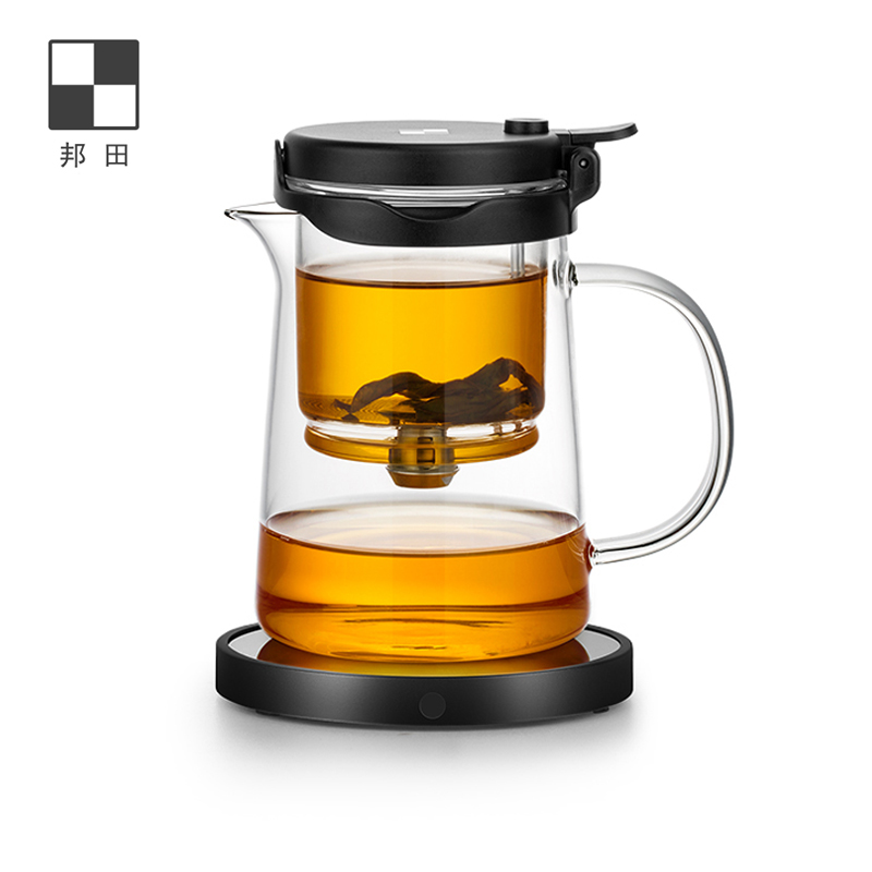 Bonta Floating cup teapot can be disassembled all glass inner bile office simple tea maker household tea set