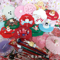 Starbucks cup lid coaster stirring stick dog year Cherry Blossom Lavender Candy Christmas mug Winnie coffee cup cover