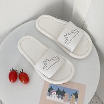 Thin slippers female summer cute cartoon Korean version indoor home with a couple of non-slip bathroom bath sandals ins