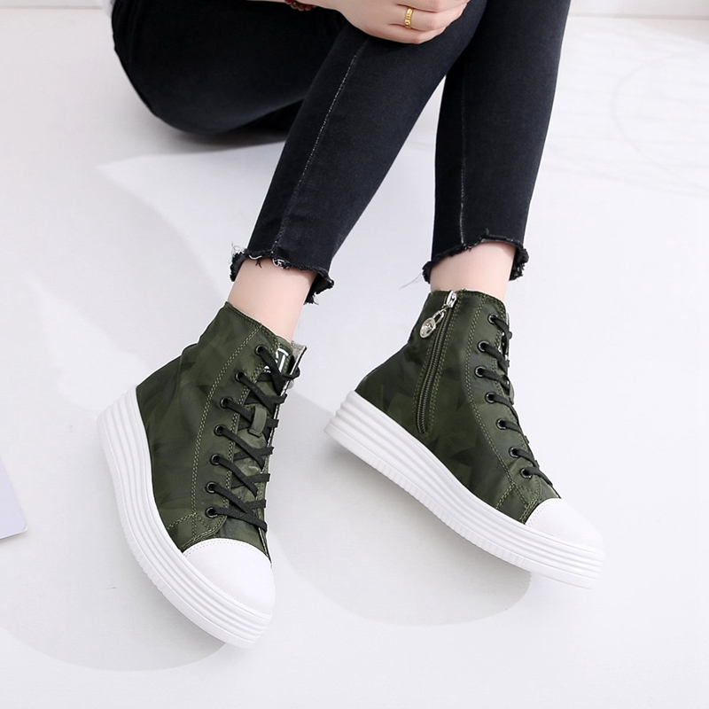 Gu Linda Ji Gao help canvas shoes female 2018 autumn and winter new wild Korean fashion flat casual shoes