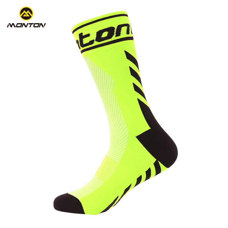 Monton Cycling Socks in the barrel of men's and women's general marathon wear-resistant bicycle sports basketball socks