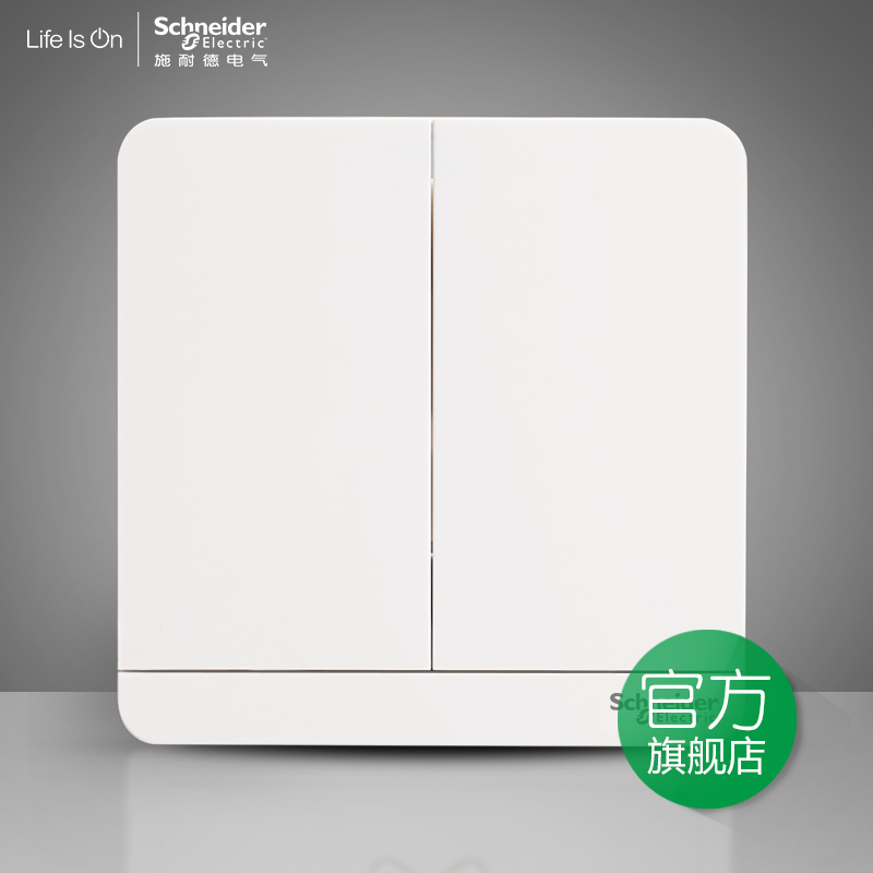Schneider Electric Two-position two open single control power outlet switch panel 16A 绎尚镜瓷白