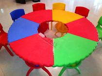幼儿园专用桌扇形桌 塑料宝贝桌 搭拼桌 可拆搭桌 塑料圆桌儿童桌