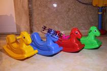 玩具汇 摇马塑料摇摇马 加厚型摇摇乐一体吹塑 环保塑料冰点价格