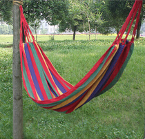 Outdoor Camping lounge Indoor double adult swing hammock canvas thickened widening hammock Special offer