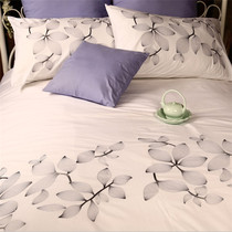 Loss of foreign trade white embroidered cotton four-piece set export fresh embroidery simple Bedding