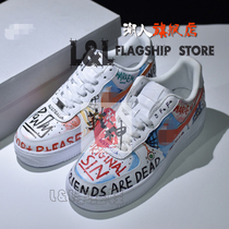 LL influx of people creative DIY pure hand-drawn haute couture Air Force One graffiti Edison shoes customers