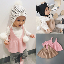 Calvin Calvin MOM South Korea fall winter baby 1-2 baby vest