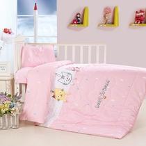 kindergarten quilt set de trois pièces pure cotton containing core seven-piece set baby cloth broded bedding baby futon