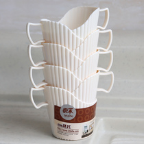 8 cup holders Thickened disposable paper cups Cup holders Cups Anti-hot hand insulated cup holders Paper cup holders Plastic cup holders
