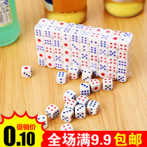 Round corner red and blue dot color sic sieve dice digital colored plastic dice KTV Bar Nightclub Accessories