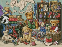 Super clear color stitch heavy drawing Paper Source file Dim-35151 sewing bear teddy bear