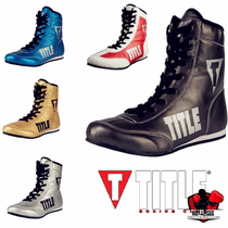 TITLE imported Genuine Money METALLIC FLASH Competition Training Special Boxing shoes boots