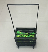 Plastic tennis pickup basket with wheels pick up ball frame auto Pick ball basket can hold 75