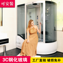 New overall shower room overall bathroom toilet glass partition All-in-one shower room bathtub double bathroom