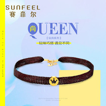 SunFEEL seifel gold pendant Gold Crown choker collar necklace womens new product for girlfriend