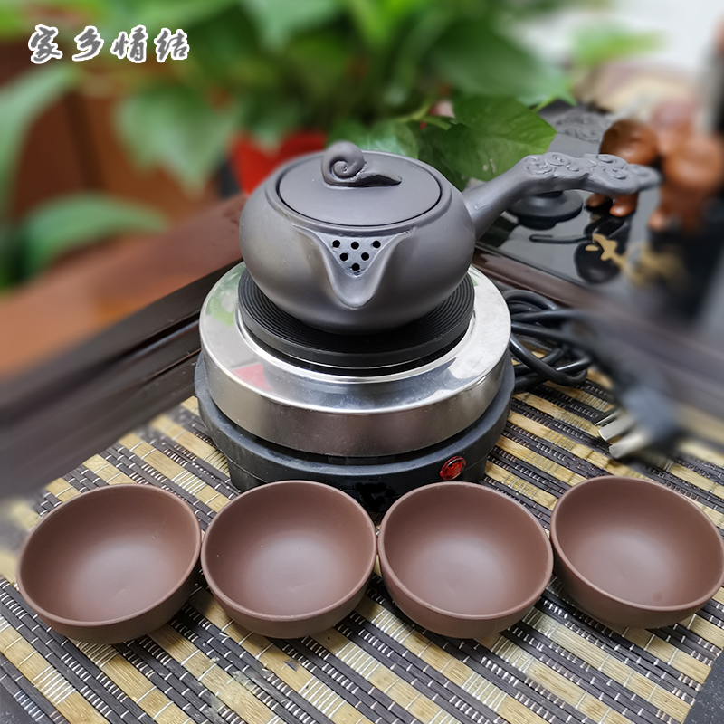 Northwest cans of tea Ancient wind tea-making tea-making Gansu tea-making pot electric stove tea-splitter fair cup electric furnace