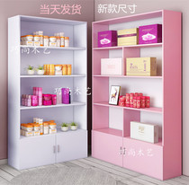 Cosmetics display cabinet beauty salon products showcase display cabinet barber shop shelves skin care products nail showcase custom