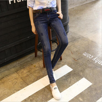Spring and Autumn in Europe and the United States skinny slim stretch feet pants