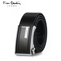 Pierre Cardin mens automatic buckles business Korean header layer of leather belts mens leather City boy belts fashion