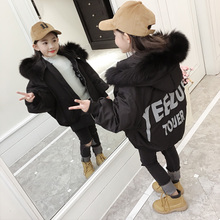 Girls cotton 2017 new Korean version of the long paragraph jacket children down cotton clothes children's coat winter coat