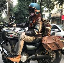 Vespa carbon fiber vintage Harley Indian motorcycle semi helmet latte triumphant