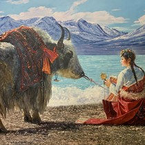 North Korean oil painting Private custom price Non-price Contact customer service instructions after the order