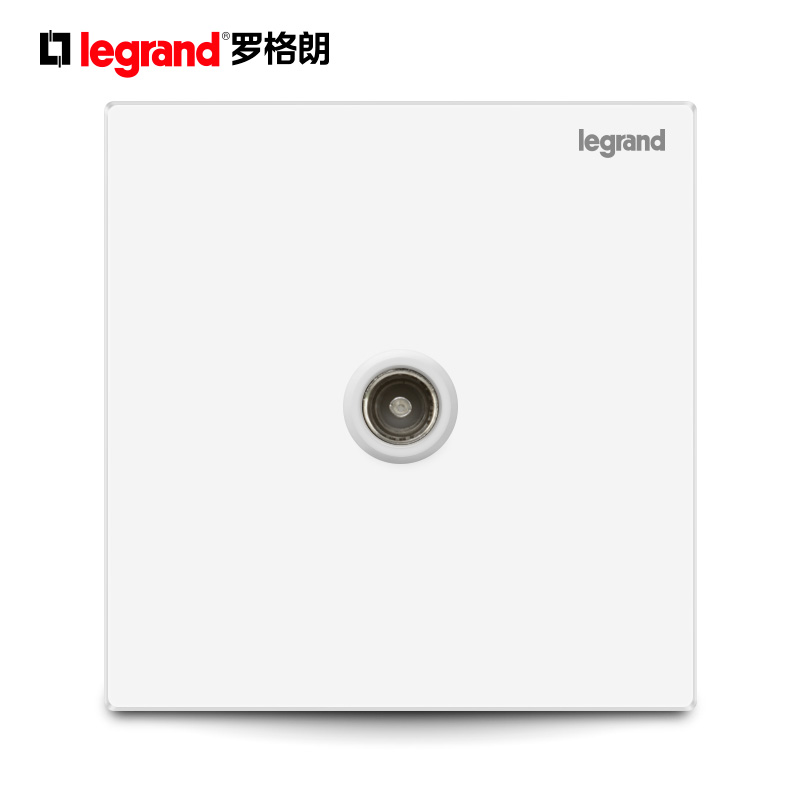 TCL Rogland Switch and Socket Panel Classic White One-TV Cable Wall Power Supply Type 86