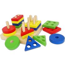 Детские игрушки малышей 1-2-3 лет геометрической формы деревянные полезные интеллектуальные доски плиточные строительные блоки Baby Montesser раннего образования