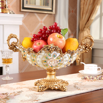 European fruit plate three sets of living room Home Creative luxury dry fruit plate candy plate high-grade coffee table decoration ornaments