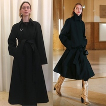 Limited collection level French lemair ~ retro Sour all handmade wool A- shaped umbrella long coat