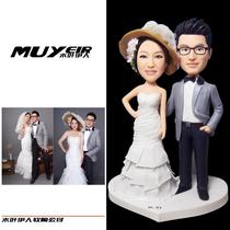 Custom puppet wax sculpture clay Tao 3d print mud man photos diy portrait doll soft Pottery Live Doll