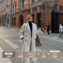 Merino fur one-piece coat female sheep shearing leather middle and long 2020 new autumn and winter fur lamb hair