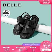 Ржаной пляж сандалии мужчин 2020 летом новый торговый центр с коровьей кожи мужчин случайные кожаные сандалии 6WC01BL0