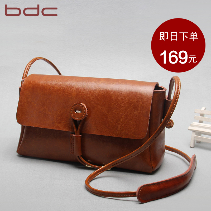 Blue dance leather diagonal female bag 2018 new leather bag shoulder small bag simple small square bag wild Messenger bag