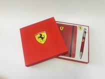 F1 Ferrari Racing Notebook three-piece badge memorial pen set souvenir belt anti-counterfeiting