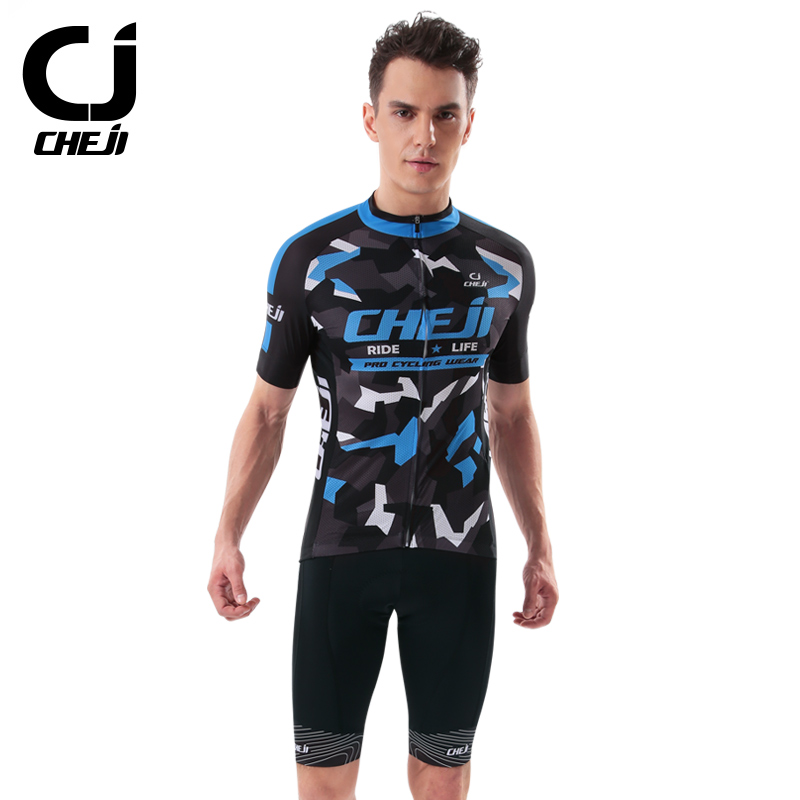 Cheji Jersey men's summer short-sleeved suit bike clothing perspiration breathable outdoor riding equipment Slim