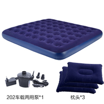 Bestway Deep Blue advanced flocking inflatable mattress double large widening thickened honeycomb structure outdoor bed
