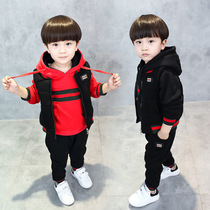 Boys fall clothing set 2017 new 1 Korean version 2 child 3 baby winter clothes 4 tide small clothes boys 5 6 7