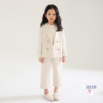 Sasakids personnalisé filles printemps costume Nouveau enfants de Air étranger veste broderie Costume Costume