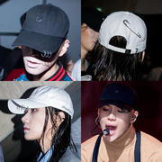 Baseball Hat female Korean summer leisure all-match hoop student couples Korean street male trendsetter black peaked cap