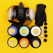 Graffiti paint special package Series) 6 optional color gloves mask nozzle package