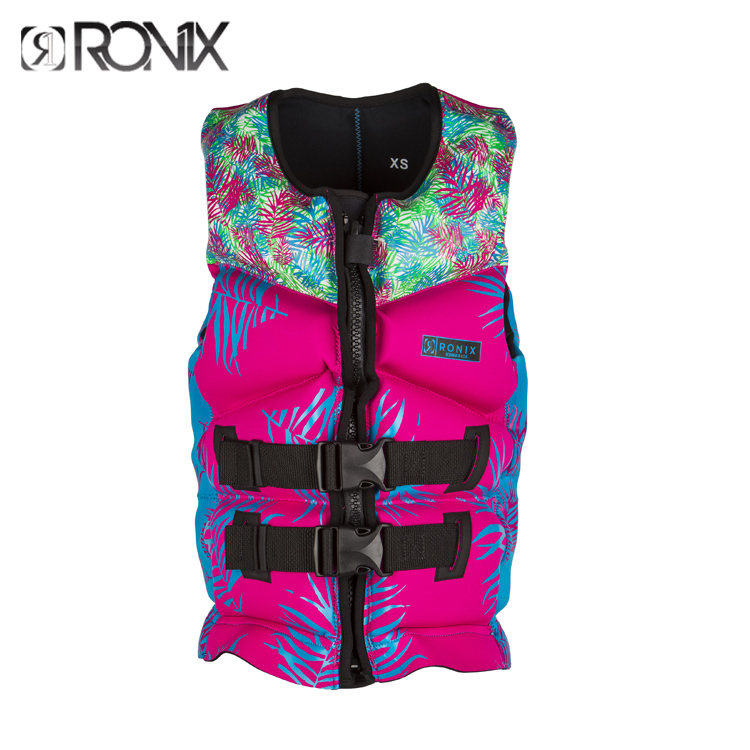 17RONIX American Prom Teen Female Large Buoyancy Drifting Snorkeling Boat Swimming Water Ski Life Jacket