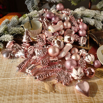 Luxury Personality Pack 72 Christmas Ball Hangings Gift Christmas Decoration Set Pink